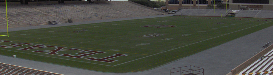 Texas A&M University, Kyle Field, Texas, USA - Versatile Rubber Tiles as Field Surround