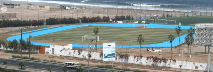 Club de Regatas 'Lima', Lima, Peru - Decoflex SW14 Athletic Flooring in Blue. Class 2 IAAF Certified.