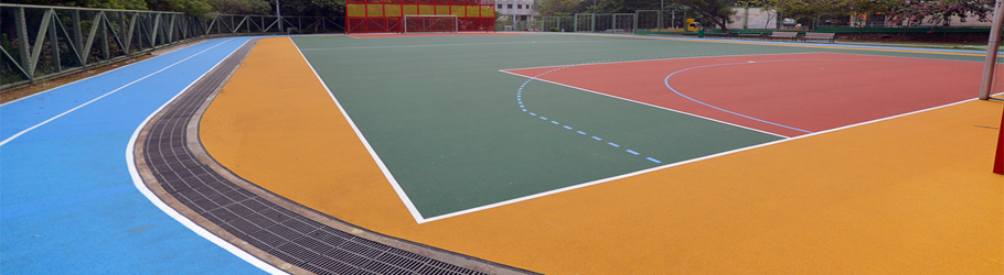 IVE Vocational School, Tuen Mun, Hong Kong, China - Decoflex D Outdoor Sports Flooring