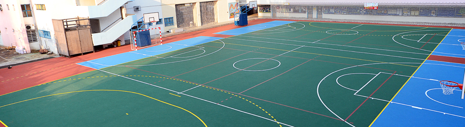 Tung Chi Yung School, Hong Kong, China - Decoflex D Outdoor Sports Flooring
