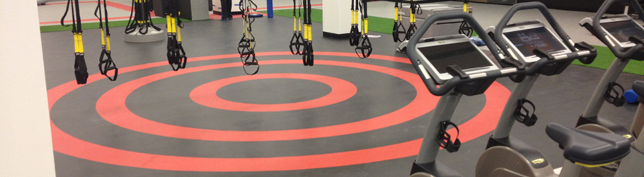 Fitness First Market Street Platinum Club, Australia - Neoflex Rubber Flooring with Graphics
