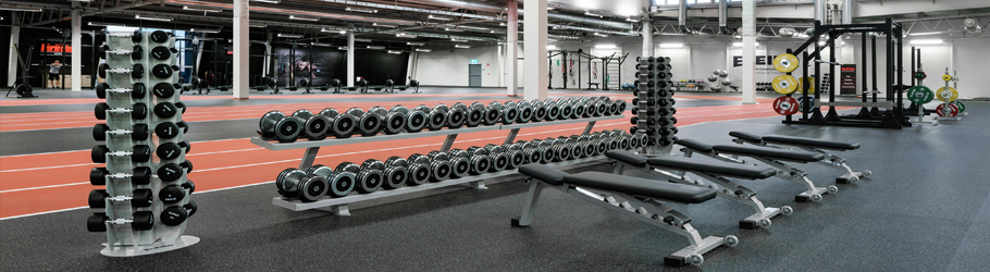 World Class Fitness, Vasteras, Sweden - Neoflex™ Fitness Flooring & Decoflex™ Indoor Track