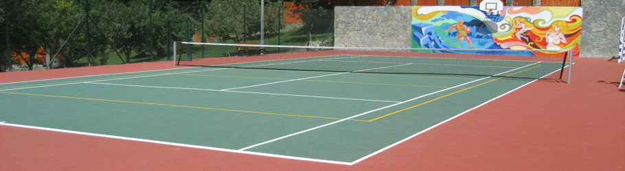 Private Tennis Court, Aberdiyevka, Krasnodar Region, Russia - Decoflex D6 Sports Flooring